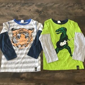 Two Charlie Rocket long sleeve t-shirts size 5
